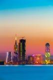 Батуми, Adjara, Georgia заход солнца или восход солнца Яркое небо вечера Стоковые Изображения RF