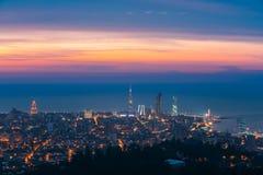 Батуми, Adjara, Georgia Панорама, вид с воздуха городского городского пейзажа Стоковое Изображение