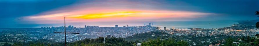 Батуми, Adjara, Georgia Панорама, вид с воздуха городского городского пейзажа Стоковое Фото