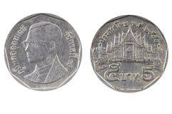 Бат монетки 5 Таиланд Стоковое Изображение RF