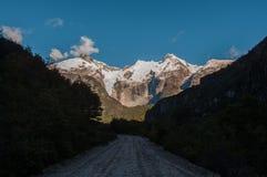 Бахя Exploradores, Carretera Austral, шоссе 7, Чили Стоковое фото RF