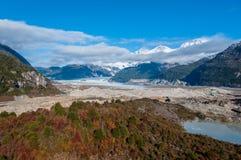 Бахя Exploradores, Carretera Austral, шоссе 7, Чили Стоковые Изображения