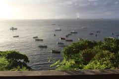 Бахя, paisagem, barcos mar e стоковое изображение