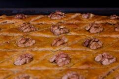 Бахлава меда, традиционные турецкие помадки Стоковые Изображения
