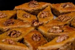 Бахлава меда, традиционные турецкие помадки Rombus Стоковые Изображения RF