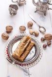 Бахлава с гайками и медом Стоковая Фотография RF