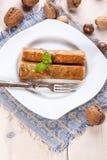 Бахлава с гайками и медом Стоковое Изображение RF