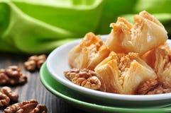 Бахлава с медом и гайками Стоковые Изображения RF