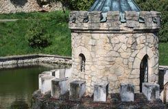 Башенка в воде, Bojnice Стоковые Изображения RF