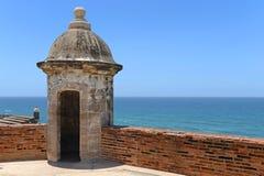 Башенка на Castillo San Cristobal в Сан-Хуане, Пуэрто-Рико. Стоковая Фотография