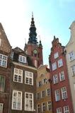Башенка Том Wurl ратуши зданий Гданьска Польши Стоковые Фотографии RF