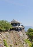 Башенка Bagu (шестерни лошади) замка Matsuyama, Японии Стоковые Изображения RF