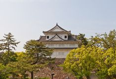 Башенка Fushimi замка Fukuyama, Японии Стоковые Изображения RF