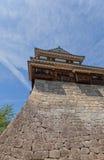 Башенка Minami-Sumi (южного угла) замка Matsuyama, Японии Стоковая Фотография