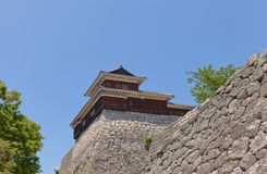 Башенка Taiko (барабанчика) замка Matsuyama, Японии Стоковое фото RF