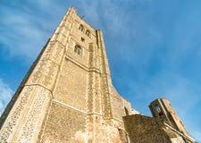Башни аббатства Wymondham стоковое фото rf