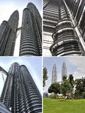 Башни Близнецы Куалаа-Лумпур Petronas, Малайзия Стоковые Фото