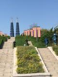 Башни Близнецы Солнц-луны аптекаря стоковые фото