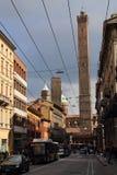 2 башни болонья, Италии Стоковое Фото