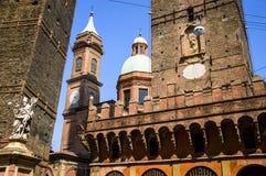 Башни болонья, Италия Стоковые Фотографии RF