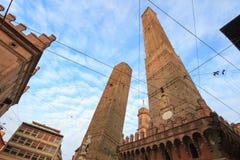 2 башни, болонья, Италия Стоковое фото RF