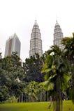 Башни близнецов Petronas - Куала-Лумпур Стоковое Изображение RF