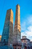 Башни Близнецы в болонья Италии Стоковые Фотографии RF