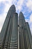 Башни Близнецы на Куалае-Лумпур (Малайзия) стоковые изображения rf