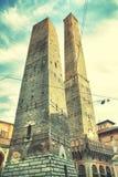 2 башни в болонья стоковая фотография rf