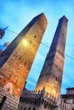2 башни в болонья Стоковые Изображения