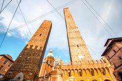 Башни в городе болонья Стоковые Изображения RF