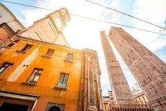 Башни в городе болонья Стоковые Фотографии RF