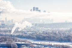 Башни в тумане стоковое изображение rf
