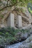 Башни в утесе на дороге Грозном - Itum-Kali, Чеченской Республике Чечне, России Стоковая Фотография RF