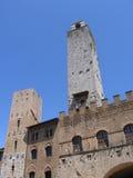 2 башни в San Gimignano, Тоскане, Италии стоковая фотография