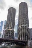 Башни города Марины в Чикаго Стоковые Изображения