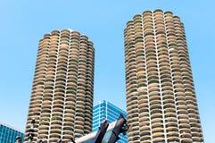 Башни города Марины, Чикаго Стоковое Изображение