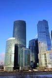 Башни города Москвы делового центра Стоковое Фото