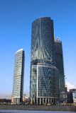 Башни города Москвы делового центра Стоковая Фотография