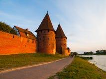 Башни городища в Мальборке Стоковые Фотографии RF