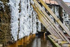 Башни градации в холодном зимнем дне Стоковые Изображения