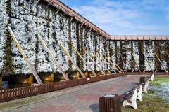 Башни градации в холодном зимнем дне Стоковые Фотографии RF