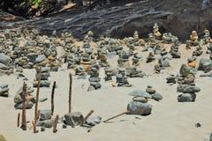 Башни Дзэн каменные Стоковое Изображение RF