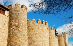 Башни замка Авила, Испании Стоковое фото RF