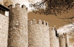Башни замка Авила, Испании Стоковое Изображение RF