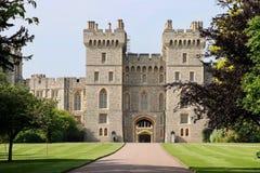 Башни замка Виндзора в Лондоне, Великобритании Стоковое Изображение RF