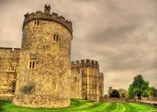 Башни замка Виндзора около Лондона Стоковое Изображение