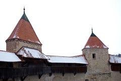 2 башни замка соединенной дорожкой Стоковые Изображения RF