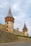 Башни замка Kamianets-Podilskyi, Украины Стоковое Изображение RF