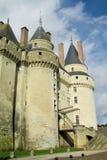 Башни замка Medival в Франции Стоковое фото RF